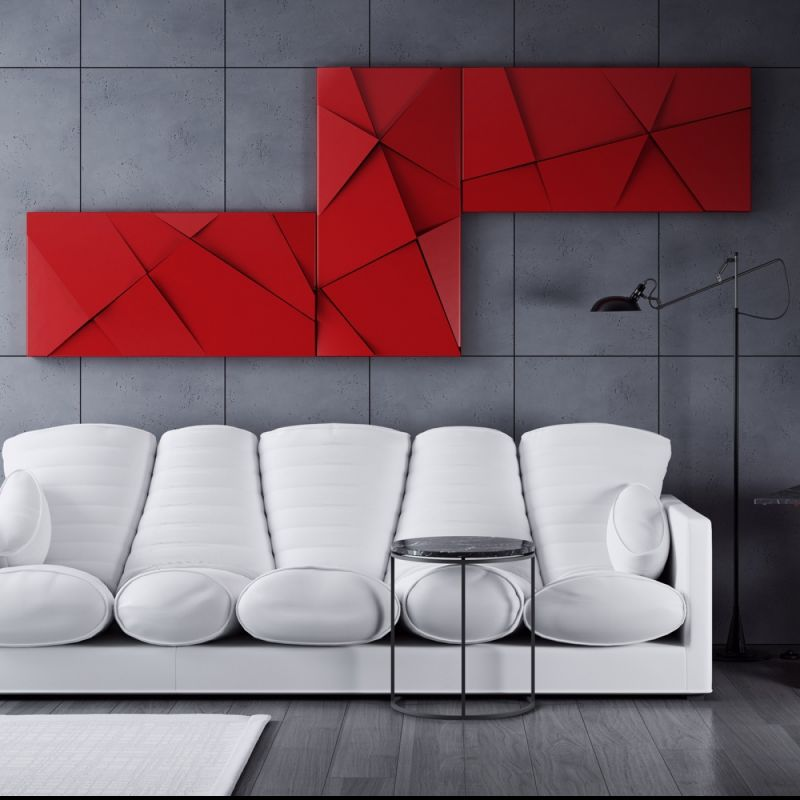 PANEL 3D red